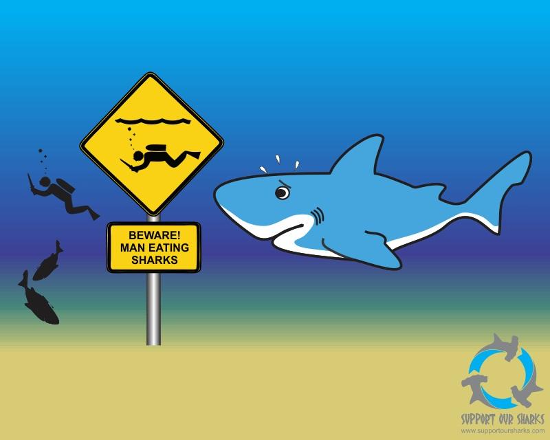 Shark Eating A Fish Cartoon